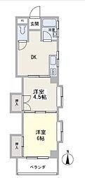トミーマンション[5階]の間取り