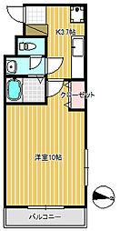 秋桜[202号室]の間取り