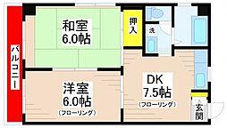 快晴館[3階]の間取り