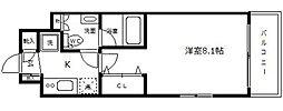 クレストフォルム大阪天満橋[5階]の間取り