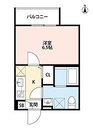 兵庫県尼崎市東園田町5丁目の賃貸アパートの間取り