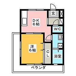 クレイン園[3階]の間取り