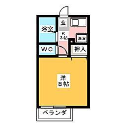 リバーサイド仲田[2階]の間取り