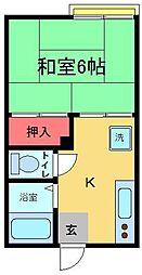 サンシャイン綾瀬[2階]の間取り