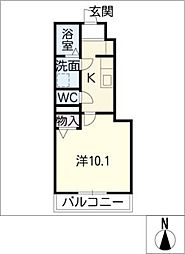 BELLE WHITE[1階]の間取り