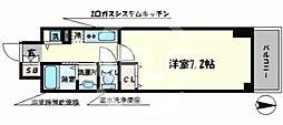 JPレジデンス難波南 4階1Kの間取り
