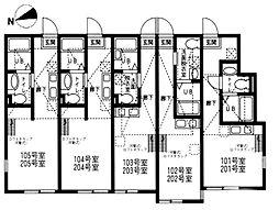 ハーミットクラブハウス戸塚III[2階]の間取り