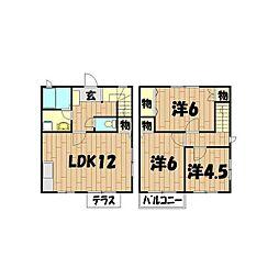 [テラスハウス] 神奈川県横浜市旭区桐が作 の賃貸【/】の間取り