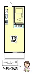 神奈川県相模原市南区若松5丁目の賃貸アパートの間取り