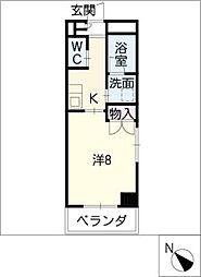 鹿乃子ビル[4階]の間取り
