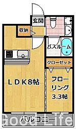 グランド ヴィラス 赤坂[4階]の間取り