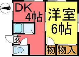 東海第6ハウス[2階]の間取り