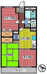 埼玉県さいたま市南区根岸1丁目の賃貸マンションの間取り
