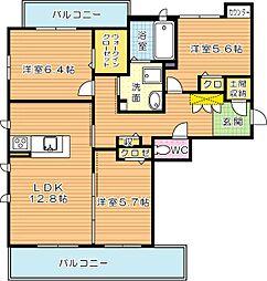 NADYAIII(ナディアIII)[2階]の間取り