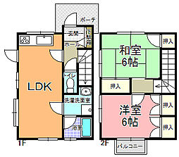 メゾニティ・梅ヶ丘 A〜F棟[A-2号室]の間取り