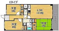 サワ—・ドゥー住之江公園[4階]の間取り