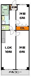 日生ロイヤルマンション高津[8階]の間取り