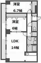 レガート菊水[9階]の間取り