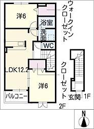 マーヴェラス スクエアII[2階]の間取り