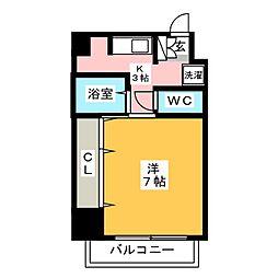 Kビル[4階]の間取り