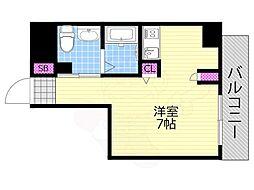 Osaka Metro千日前線 西長堀駅 徒歩4分の賃貸マンション 4階1Kの間取り