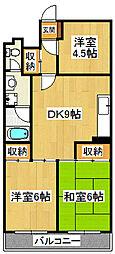 日商岩井中山マンション[714号室]の間取り