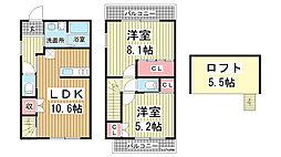 [一戸建] 兵庫県神戸市中央区中島通3丁目 の賃貸【/】の間取り