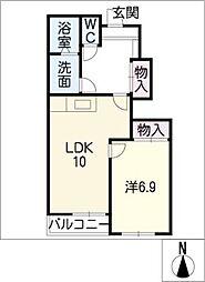 チェリ−・ハウス[1階]の間取り