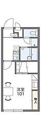 南海高野線 萩原天神駅 徒歩24分の賃貸アパート 2階1Kの間取り