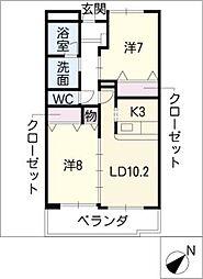 LandMark玉垣[3階]の間取り