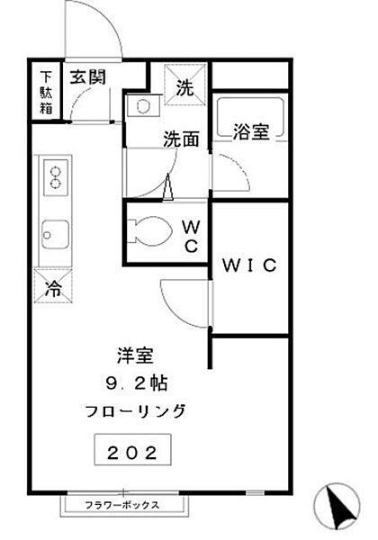 東京都武蔵野市御殿山2丁目の賃貸アパートの間取り