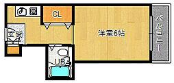大阪府吹田市千里山東2丁目の賃貸マンションの間取り