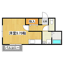 MMハイツ[1階]の間取り