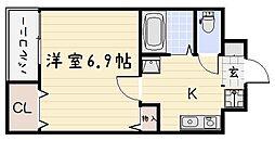 藤本ビルNo.25[102号室]の間取り
