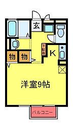 JR内房線 八幡宿駅 徒歩17分の賃貸アパート 1階1Kの間取り