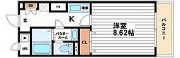 メゾン・ド・ヴィレ大阪城公園前[11階]の間取り