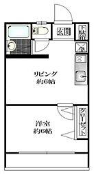 根岸コーポ[2階]の間取り