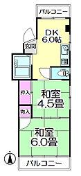メゾン若竹[202号室]の間取り