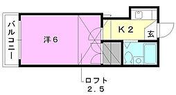 プチマロン[205 号室号室]の間取り