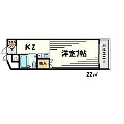 OSビル[2階]の間取り