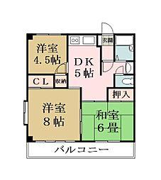 栄マンション[206号室]の間取り