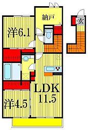 カルテット・K[2階]の間取り