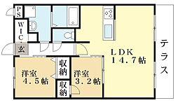 ル・ドルフ[2階]の間取り