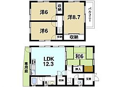 [一戸建] 奈良県奈良市西大寺赤田町2丁目 の賃貸【奈良県 / 奈良市】の間取り