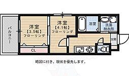 赤坂ランドマークタワー 11階2Kの間取り