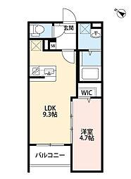 兵庫県尼崎市潮江3丁目の賃貸アパートの間取り