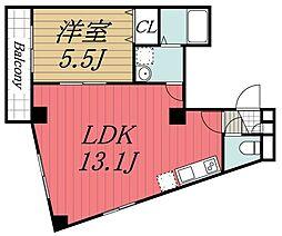 JR内房線 本千葉駅 徒歩5分の賃貸マンション 4階1LDKの間取り