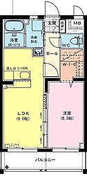 (仮称)神宮東2丁目マンション 1階1LDKの間取り