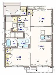 シャーメゾン サン フローリッシュplus[1階]の間取り