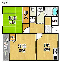 シダーコート[3階]の間取り